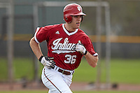Indiana Hoosiers outfielder Tim O'Conner during a game against the Pittsburgh Panthers at the Big Ten/Big East Challenge at the Walter Fuller Complex on February 19, 2012 in St. Petersburg, Florida.  (Mike Janes/Four Seam Images)