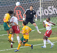 New York Red Bull GK Tony Meola looks on at the action in front of him. LA Galaxy defeated New York 1-0 during a MLS game at The Home Depot Center in Carson, California, Tuesday July 4, 2006.