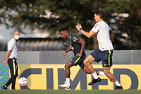 7th October 2020; Granja Comary, Teresopolis, Rio de Janeiro, Brazil; Qatar 2022 qualifiers; Rodrigo of Brazil during training session