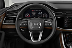 Car pictures of steering wheel view of a 2020 Audi Q7 Premium 5 Door SUV Steering Wheel