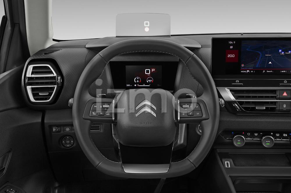 Car pictures of steering wheel view of a 2021 Citroen C4 Shine-Pack 5 Door SUV Steering Wheel