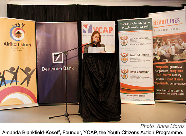 The YCAP National Finals were held in Cape Town on 28 September 2013. Schools from the 9 provinces that had won their Provincial competitions faced off presenting their community action projects to an invited audience and panel of judges.