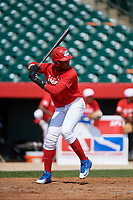 Estanli Castillo (17) during the Dominican Prospect League Elite Underclass International Series, powered by Baseball Factory, on August 1, 2017 at Silver Cross Field in Joliet, Illinois.  (Mike Janes/Four Seam Images)
