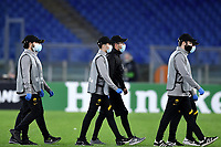 Ball boys wearing mask are seen during the Europa League Group Stage A football match between AS Roma and CSKA Sofia at stadio olimpico in Roma (Italy), October, 29th, 2020. Photo Andrea Staccioli / Insidefoto