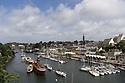 Douarnenez - Bretagna, 21 agosto 2020. Veduta di Port Rhu, il porto antico.