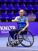 Rotterdam, Netherlands, December 15, 2017, Topsportcentrum, Ned. Loterij NK Tennis, Semi final wheelchair doubles woman, Maike Derks-Snellenberg (NED)<br /> Photo: Tennisimages/Henk Koster
