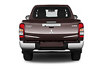 Straight rear view of 2020 Mitsubishi L200 Intense 4 Door Pick-up Rear View  stock images