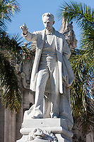 Cuba, Havana.  Statue of Jose Marti, National Hero.  Parque Central, Central Havana.