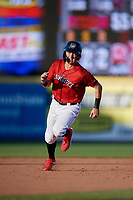 Erie SeaWolves Kody Clemens (8) running the bases during an Eastern League game against the Richmond Flying Squirrels on August 28, 2019 at UPMC Park in Erie, Pennsylvania.  Richmond defeated Erie 6-4 in the first game of a doubleheader.  (Mike Janes/Four Seam Images)
