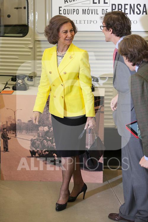 """Queen Sofia of Spain during the """"REY DE ESPAÑA"""" International Journalism Awards and ¨DON QUIJOTE"""" Journalism Award in Madrid, Spain. May 27, 2014. (ALTERPHOTOS/Victor Blanco)"""