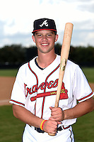 GCL Braves designated hitter Braxton Davidson (20) poses for a photo after a game against the GCL Blue Jays on June 27, 2014 at ESPN Wide World of Sports in Orlando, Florida.  GCL Braves defeated GCL Blue Jays 10-9.  (Mike Janes/Four Seam Images)