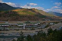 The Paro International airport, Bhutan