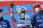 World Champion Julian Alaphilippe (FRA) Deceuninck-Quick Step at sign on before the start of the 112th edition of Milan-San Remo 2021, running 299km from Milan to San Remo, Italy. 20th March 2021. <br /> Photo: LaPresse/Gian Mattia D'Alberto   Cyclefile<br /> <br /> All photos usage must carry mandatory copyright credit (© Cyclefile   LaPresse/Gian Mattia D'Alberto)