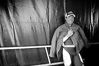 3 Days of De Panne.stage 3a: De Panne - De Panne ..Marco Haller (AUT) keeping warm backstage before the podium ceremony...
