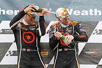 #74 Compass Racing, Audi RS3 LMS TCR, TCR: Rodrigo Sales, Kuno Wittmer, podium, #75 Compass Racing, Audi RS3 LMS TCR, TCR: Roy Block, Pierre Kleinubing, #77 Compass Racing, Audi RS3 LMS TCR, TCR: Britt Casey Jr, Tom Long, champagne