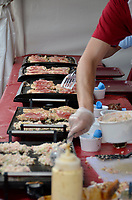 August 11 2012 - Montreal (Qc) Canada - Matsuri Japon Festival 11th edition.<br /> <br /> Matsuri Japon is a free event promoting Japanese culture to the general public. IN PHOTO : Preparation of okonomiyaki
