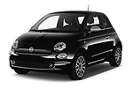 2020 Fiat 500 S8-Star 3 Door Hatchback Angular Front automotive stock photos of front three quarter view