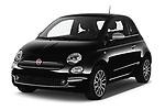 2020 Fiat 500 S8-Star 3 Door Hatchback Angular Front automotive stock photos of front three quarter view