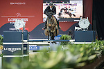 Kevin Staut of France riding on Aran competes during the EEM Trophy, part of the Longines Masters of Hong Kong on 10 February 2017 at the Asia World Expo in Hong Kong, China. Photo by Weixiang Lim / Power Sport Images