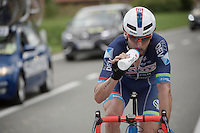 Kenny De Haes (BEL/Lotto-Soudal) sipping along the way<br /> <br /> 69th Halle-Ingooigem 2016 (200km)