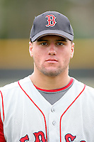 August 14, 2008:Tyler Yockey (15) of the GCL Red Sox. Photo by: Chris Proctor/Four Seam Images
