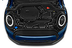 Car Stock 2021 MINI MINI Cooper-Yours 5 Door Hatchback Engine  high angle detail view