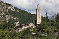 Europe/France/Provence-Alpes-Côtes d'Azur/06/Alpes-Maritimes/Alpes-Maritimes/Arrière Pays Niçois/ Saorge: Madonna del Poggio- Chapelle de style roman