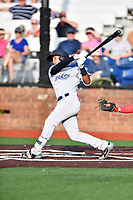 Pulaski Yankees center fielder Everson Pereira (38) swings at a pitch during a game against the Johnson City Cardinals at TVA Credit Union Ballpark on July 7, 2018 in Johnson City, Tennessee. The Cardinals defeated the Yankees 7-3. (Tony Farlow/Four Seam Images)