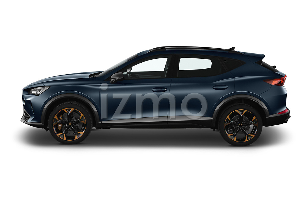 Car Driver side profile view of a 2021 Cupra Formentor - 5 Door SUV Side View