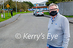 Cllr Bobby O'Connell standing in St John's Park, Castleisland where he is calling for traffic calming measures in estate.