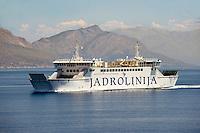 Jardolinja Car ferry Croatian Island, Croatia, Dalmatia