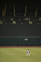 Salt River Rafters center fielder Corey Ray (2), of the Milwaukee Brewers organization, during a game against the Mesa Solar Sox on October 17, 2017 at Salt River Fields at Talking Stick in Scottsdale, Arizona. The Solar Sox defeated the Rafters 8-5. (Zachary Lucy/Four Seam Images)