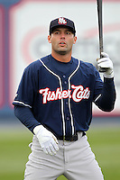 New Hampshire Fisher Cats outfielder Brian Van Kirk #26 before a game against the Reading Phillies at FirstEnergy Stadium on April 10, 2012 in Reading, Pennsylvania.  New Hampshire defeated Reading 3-2.  (Mike Janes/Four Seam Images)