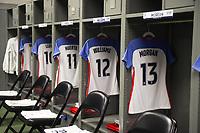Cary, NC - Sunday October 22, 2017: U.S. Women's National team locker room during an International friendly match between the Women's National teams of the United States (USA) and South Korea (KOR) at Sahlen's Stadium in WakeMed Soccer Park.
