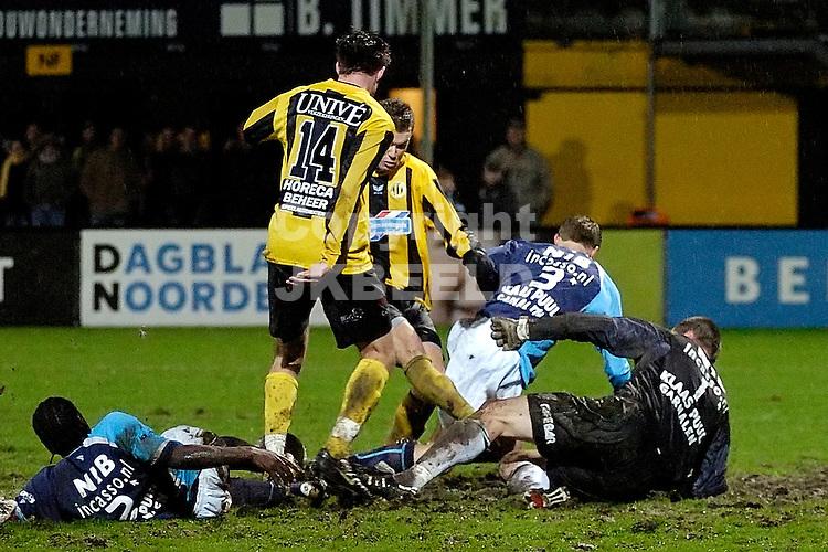 voetbal bv veendam - volendam jupiler league 07-12-2007 .inleiding tot de 3-3.fotograaf Jan Kanning