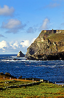 Cliffs overlooking the ocean,  Glencolumbkille, County Donegal, Ireland