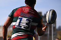 18th April 2021 2021; Recreation Ground, Bath, Somerset, England; English Premiership Rugby, Bath versus Leicester Tigers; Matías Moroni of Leicester Tigers celebrates scoring a try