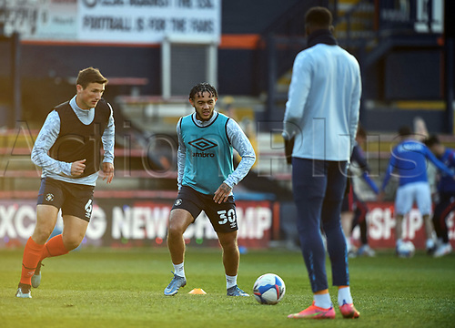 21st April 2021; Kenilworth Road, Luton, Bedfordshire, England; English Football League Championship Football, Luton Town versus Reading; Dion Pereira of Luton Town during the warm up.