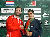 20-9-07, Netherlands, Rotterdam, Daviscup NL-Portugal, Loting, de eerste partij die uit de lotingsbeker kwam is de partij Sluiter-Gil