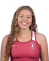 Stanford, CA - November 7, 2019: India Robinson Athlete Headshot.