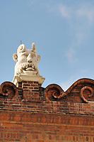 Poland, Tarnow, Ornate rooftop gargoyle, Town Hall