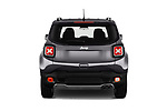 Straight rear view of a 2018 Jeep Renegade Limited 5 Door SUV stock images