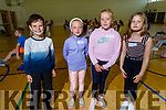 Rocco McMahon, Grace and Kate Fitzgibbon and Emma Hobbert attending the Jackie O'Mahoney School of Dancing on Monday in the John Mitchels GAA Complex