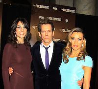 01-19-13 Kevin Bacon - Annie Parisse - Natalie Zea star in Fox's The Following - Travis Schuldt