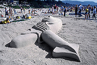 SAND CASTLE at the annual contest held in CARMEL BEACH each year - CALIFORNIA