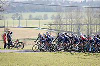 Team Alpecin-Fenix leading the peloton up La Houppe<br /> <br /> 73rd Kuurne - Brussels - Kuurne 2021<br /> ME (1.Pro)<br /> 1 day race from Kuurne to Kuurne (BEL/197km)<br /> <br /> ©kramon