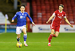 Aberdeen v St Johnstone…26.12.20   Pittodrie      SPFL<br />Danny McNamara and Ryan Hedges<br />Picture by Graeme Hart.<br />Copyright Perthshire Picture Agency<br />Tel: 01738 623350  Mobile: 07990 594431