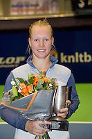 15-12-12, Rotterdam, Tennis Masters 2012, Kiki Bertens ontvangt KNLTB award