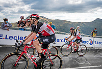 Caleb Ewan (AUS/Lotto-Soudal) escorted by 3 teammates up the Puy Mary (uphill finish)<br /> <br /> Stage 13 from Châtel-Guyon to Pas de Peyrol (Le Puy Mary) (192km)<br /> <br /> 107th Tour de France 2020 (2.UWT)<br /> (the 'postponed edition' held in september)<br /> <br /> ©kramon