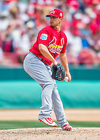 13 March 2016: St. Louis Cardinals pitcher Marco Gonzales, ranked the 7th Top Prospect in the Cardinals organization for 2016 by MLB, on the mound during a pre-season Spring Training game against the Washington Nationals at Space Coast Stadium in Viera, Florida. The teams played to a 4-4 draw in Grapefruit League play. Mandatory Credit: Ed Wolfstein Photo *** RAW (NEF) Image File Available ***